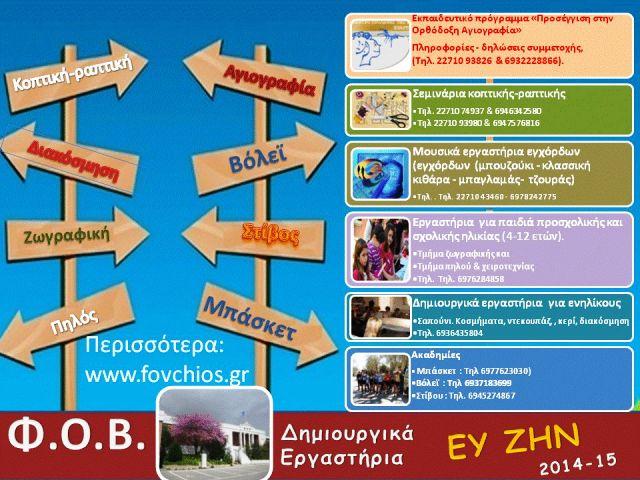 Εργαστήρια ΦΟΒ 2014-15